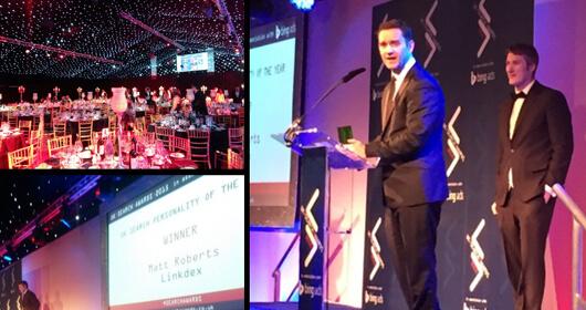 Matt Roberts Wins Search Personality of the Year At UK #SearchAwards